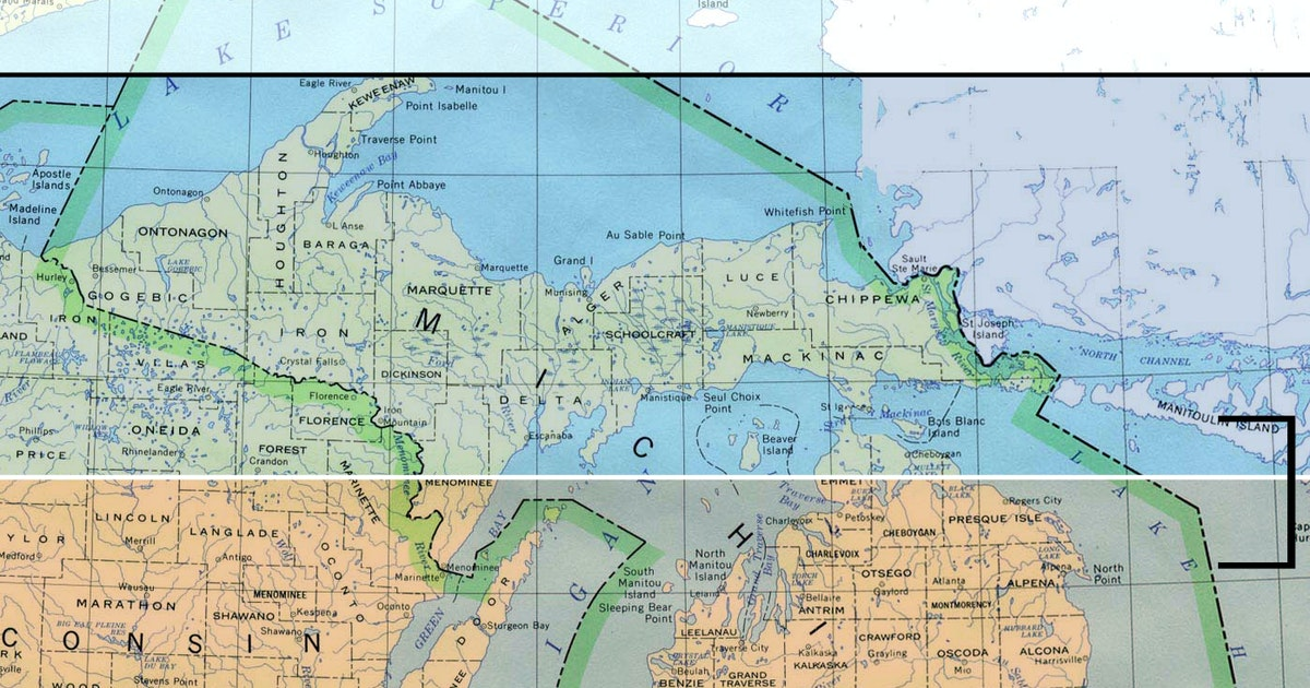 What Actually Determines Northern Michigan - Us-127-michigan-map