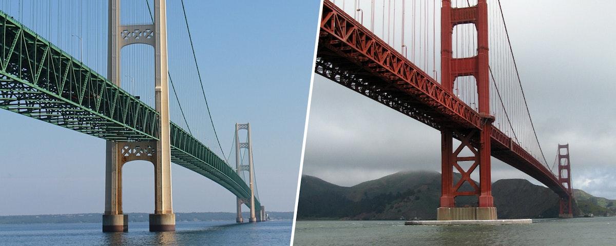 Mackinac Bridge Vs Golden Gate Bridge