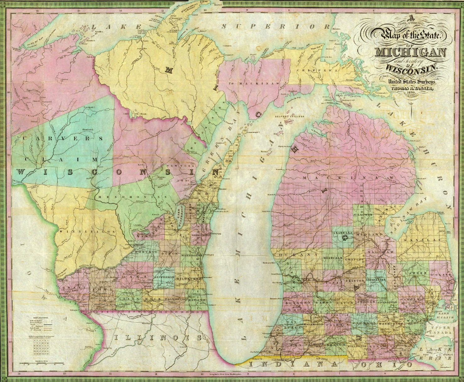 Us Map With State Abbreviations And Time Zones%0A upper peninsula map an almost complete history of the upper peninsula